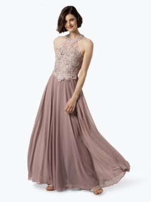 Luxuar Fashion - Damska sukienka wieczorowa, beżowy