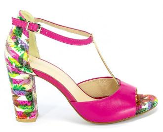 Sandały Uncome 24089 Mix Fuxia Róż Skóra