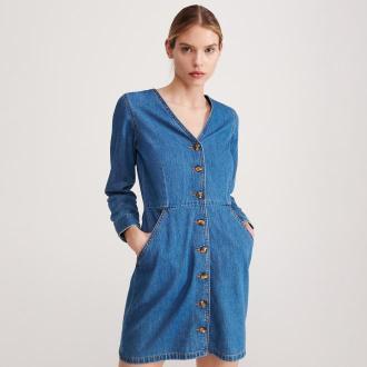 Reserved - Jeansowa sukienka - Niebieski