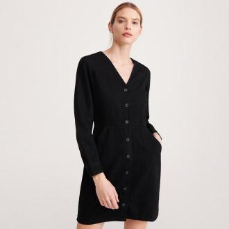 Reserved - Jeansowa sukienka - Czarny
