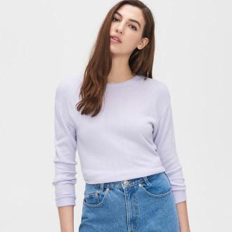 Cropp - Gładki sweter - Fioletowy