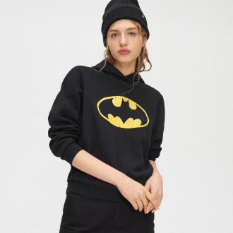 Cropp - Bluza z kapturem Batman - Czarny