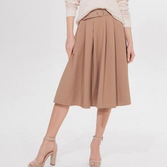 Mohito - Rozkloszowana spódnica z paskiem -