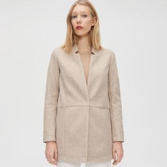 Cropp - Krótki płaszcz - Beżowy