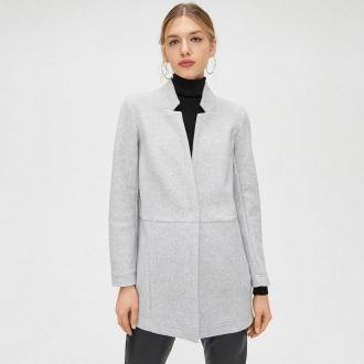 Cropp - Krótki płaszcz - Jasny szary