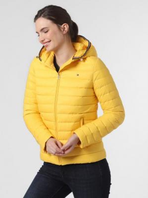 Tommy Hilfiger - Damska kurtka puchowa, żółty