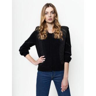 Pepe Jeans Kardigan Pauline PL701567 Czarny Regular Fit