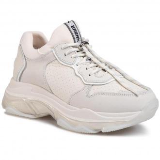 Sneakersy BRONX - 66167E-AB  Off White 5