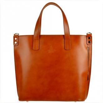 Vezze torba shopper bag camel xl skóra naturalna