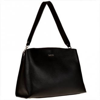 Czarna torebka włoska shopper na ramię vezze
