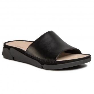 Klapki CLARKS - Tri Slide 261487634 Black Leather