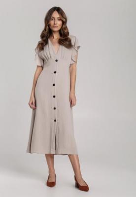 Szara Sukienka Elithei