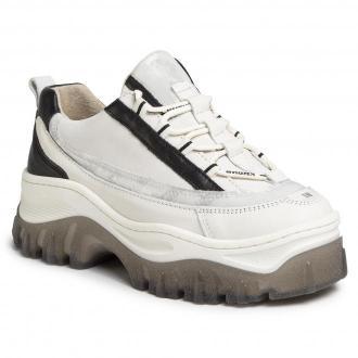 Sneakersy BRONX - 66305-AF Off White/L.Grey/Black