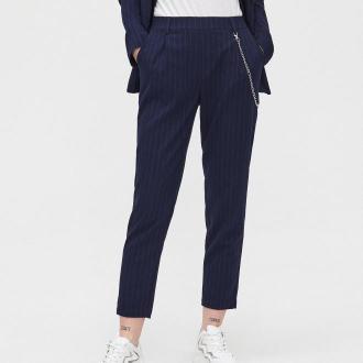 Cropp - Spodnie jogger tailoring - Granatowy