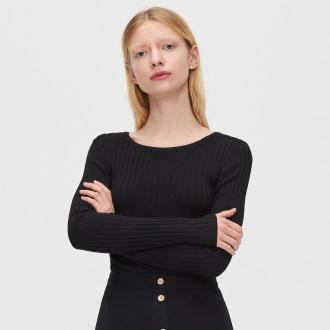 Cropp - Sweter z dekoltem na plecach - Czarny