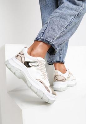 Beżowe Sneakersy Bubblebirdok