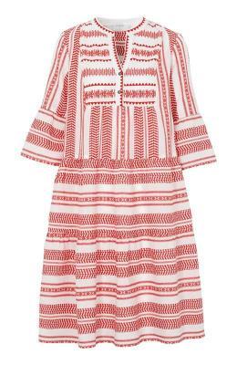 Cream Sukienka Vermunda z?amana biel czerwony