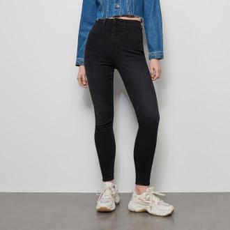 Reserved - Jeansy z wysokim stanem - Czarny