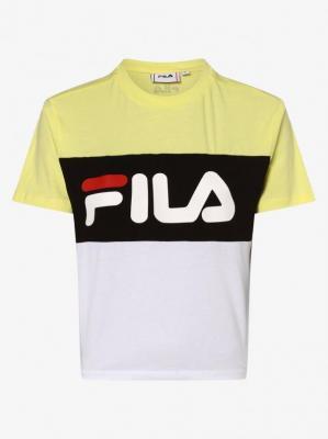 FILA - T-shirt damski – Allison, żółty