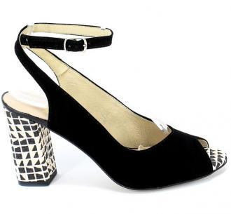 Sandały Gamis 3930 Czarny Zamsz+D63