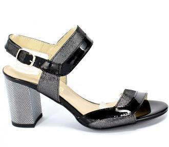 Sandały Gamis 3942 Czarny Lakier+D19 Skóra