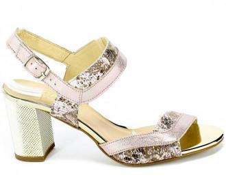 Sandały Gamis 3942 P117+D79 Różowy Skóra
