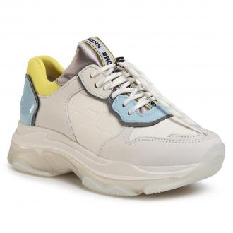 Sneakersy BRONX - 66167E-HB O.White/Baby Blue/Lime