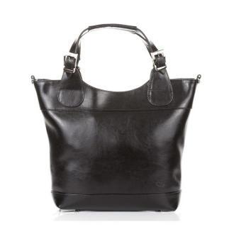 Torebka elegancka PAOLO PERUZZI SHOPPER BAG skóra naturalna czarna