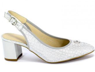 Sandały Anis 3727 Pmb 1750 Srebrny Skóra