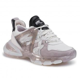 Sneakersy BRONX - 66337-AF Off White/L.Grey/Black 3336