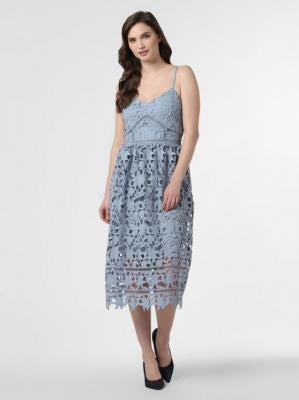 Vila - Sukienka damska – Vizanna Midi, niebieski