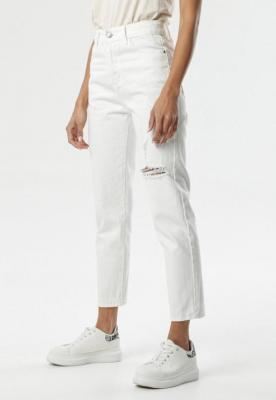 Białe Jeansy Mom Fit Caprio