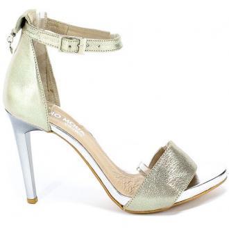 Sandały Euro Moda 20 3236/074-P Złoty Skóra