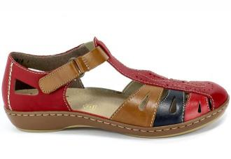 Sandały Rieker 45867-33 Red Czerwony