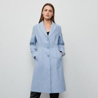 Reserved - Płaszcz z domieszką wełny - Niebieski