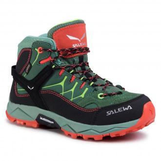 Trekkingi SALEWA - Jr Alp Trainer Mid Gtx GORE-TEX 64006-5960 Myrtle/Tender Shot