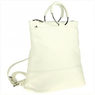 Torebko plecak biały skóra naturalna włoski