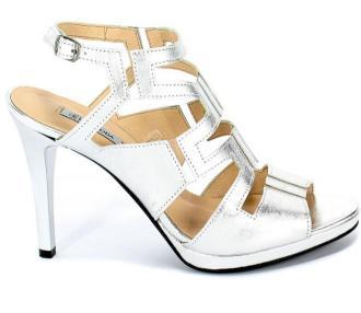Sandały Euro Moda Lib 9310 112 Srebrny Skóra