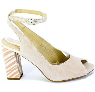 Sandały Gamis 3930 D6+D45 Beż Skóra