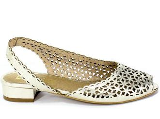 Sandały Exquisite 1126/2 Venus Złoto Skóra