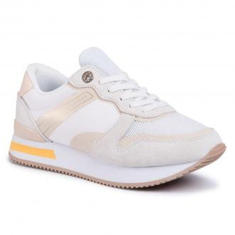 Sneakersy TOMMY HILFIGER - Feminine Active City Sneaker FW0FW04696 White YBS