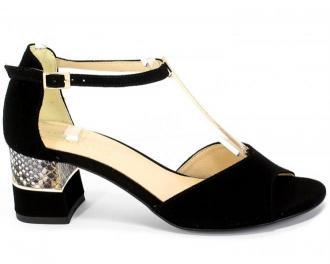Sandały Uncome 30301 Nero Czarny Skóra