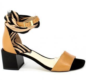 Sandały Euro Moda 20 3316/007-P J.Brąz Skóra
