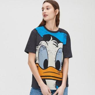 Cropp - Koszulka z nadrukiem Donald Duck - Szary