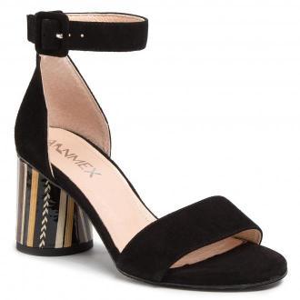 Sandały ANN MEX - 0735 01W + 12PSB Czarny
