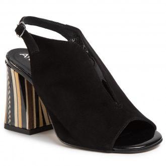 Sandały ANN MEX - 0910 01W+12PSB Czarny