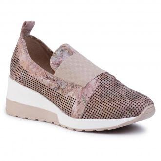 Sneakersy EKSBUT - 2B-5931-N44/0LL-1G Beż Kwiaty