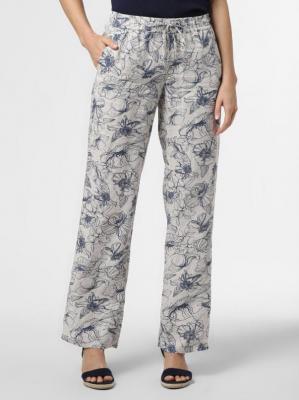 Rosner - Damskie spodnie lniane – May, beżowy