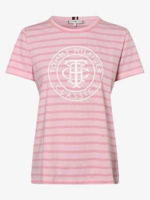 Tommy Hilfiger - T-shirt damski, różowy