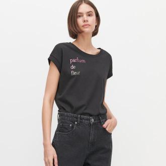 Reserved - T-shirt z napisem - Czarny